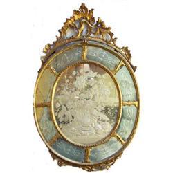 Romeo Ongaro Venetian Floral Engraved Mirror  #2381817