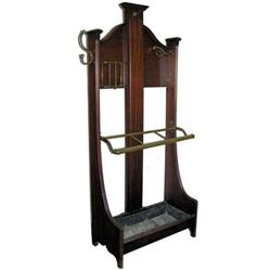 Georgian Style Umbrella Stand & Costumer  #2381822