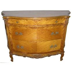 Louis XV Tiger Maple Bombe Commode #2381823