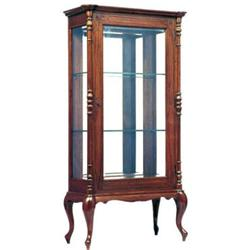 Antique Anglo-Indian Teakwood Display Cabinet #2381824