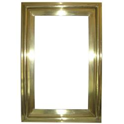 Rectangular Polished Brass Bistro Mirror #2381825