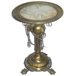 Classical Brass & Marble Gueridon Table #2381827