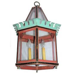 Antique Painted Ceiling Lantern Fixture #2381830