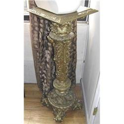 Antique Neoclassical Gilded Spelter Pedestal #2381837