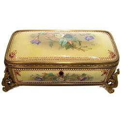 Antique Jewelled Porcelain Jewelry Box #2381841