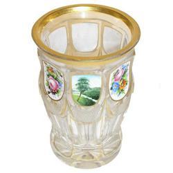 Bohemian Enamelled Gilded Spa Glass #2381851