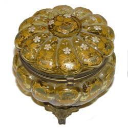 Round Enamelled Glass Jewelry Box #2381859