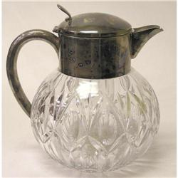 Silver & Cut Glass Wine or Water Carafe #2381867