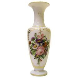 "15"" Opaline Glass Vase with Floral Bouquet #2381872"