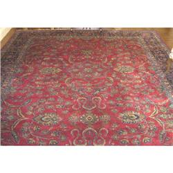 Large Antique Sarouk Persian Carpet 11 x 19 ft #2381874