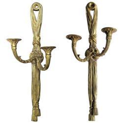 Pair Antique Bronze French Empire Sconces #2381887