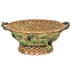 Polychrome Glazed Faience Fruit Basket #2381896