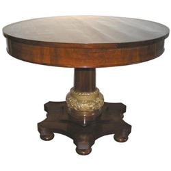 Empire Round Pedestal Center or Dining Table #2381906