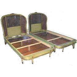 Pair Antique Victorian Neoclassical Beds #2381907