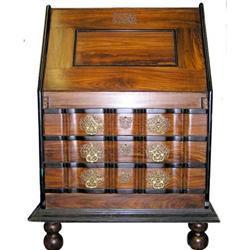 Vintage Goa Anglo-Indian Fall-Front Bureau Desk#2381922