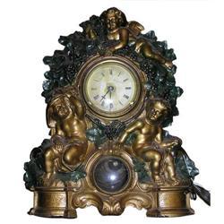 Waterbury Cold-Painted Bronze Cupid Clock #2381932