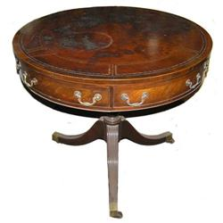 Federal Style Mahogany Drum Table #2381938