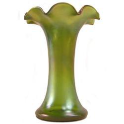 Loetz Creta Glatt Iridescent Green Vase #2381942