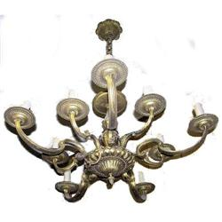 Classical 10-Arm Bronze / Brass Chandelier #2381949