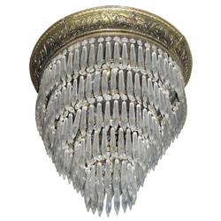 French Empire Cascading Crystal Chandelier #2381951