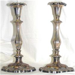 Pair 1843 English Sheffield Plate Candlesticks #2381952