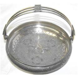 1886 Meriden Silverplated Handled Basket #2381953