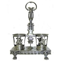 Napoleonic French Sterling Cruet Stand #2381955