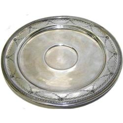 Sterling Silver Neoclassical Cabinet Plate #2381956
