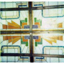 French Art Deco Stained Glass Ceiling #2381969