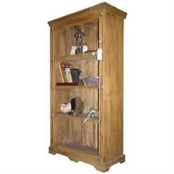 Tall Antique Rustic Pine Bookcase #2381971