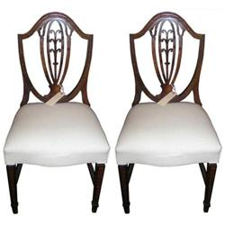 Pair Shield Back Hepplewhite Side Chairs #2381975