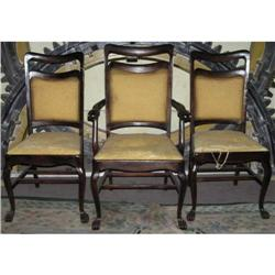 Antique Armchair & 2 Matching Side Chairs #2381997
