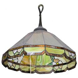 Arts & Crafts Stained Glass Ceiling Lamp #2382000