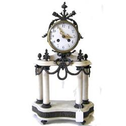 Marble Mantle Clock Candelabra Garniture Set #2382015