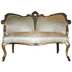 Classical Louis XV Giltwood Settee Sofa #2382025