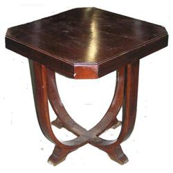 Art Deco Bentwood Walnut Side Table #2382027