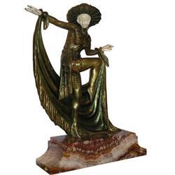 MIRVAL Art Deco Bronze Dancer Sculpture #2382041