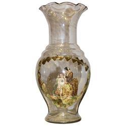 Antique Decoupage Venetian Glass Vase #2382043