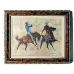 HOLESCH Cowboys at Calgary Rodeo Horses #2382045
