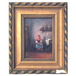 Hungarian PERLMUTTER Peasant Painting #2382046