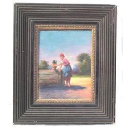 Hungarian PERLMUTTER Peasant Painting #2382047
