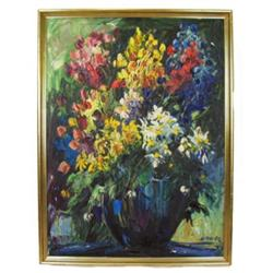 '68 EMERIC Impressionist Floral Still Life #2382056