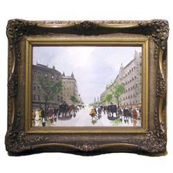 BERKES Paris Streetscape Oil Painting #2382061