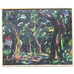 EMERIC French Wooded Landscape Painting #2382070