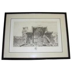 Roman Baths of Diocletien Engraving by Chardon #2382081