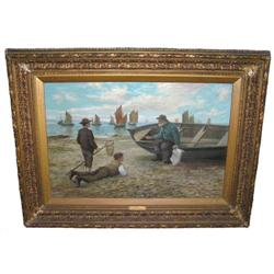 Scottish 1894 CORPER Fisherman Painting #2382084