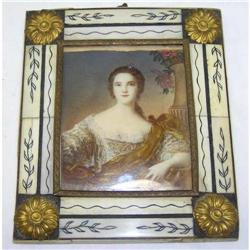 Miniature Framed Female Portrait Painting #2382106