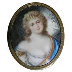 J BRANDL Miniature Female Portrait #2382107