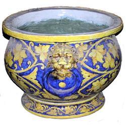 Large Italian Majolica Ceramic Planter #2382111