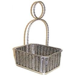 Silverplated Hand-Soldered Woven Basket #2382113